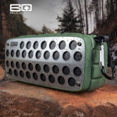 BugOut Water-Resistant Wireless Speaker - Tough And Durable TPU Housing, USB Rechargeable, FM Radio, SD Card Slot, AUX Input, Carabiner