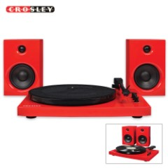 Crosley Turntable System - Red