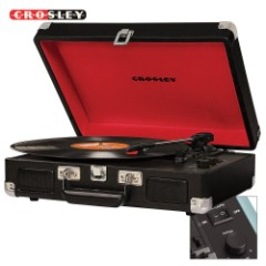 Crosley Cruiser Deluxe Turntable – Black