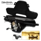 Diawa Fishing Spinning Reel And Rod Combo With Hard Carry Case