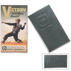 Duke Cannon Big Ass Brick Of Soap - Victory Theme, 10 Oz Bar, Clean Scent, Rough Cut For Better Grip, Long Lasting
