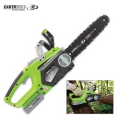 """Earthwise Cordless 20V Chain Saw – 10"""""""