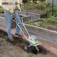 "Earthwise Cordless 40V Tiller And Cultivator – 11"""