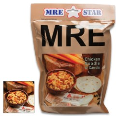 MRE Chicken Noodle Stew With Vegetables Entrée – Two Servings, Fully-Cooked, Added Vitamins And Minerals, Seven-Year Shelf-Life