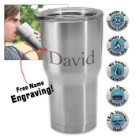 Stainless Steel Tumbler – Double-Walled Vacuum Insulated - 22 Oz. - Free Engraving