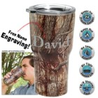 Camo Stainless Steel Tumbler – Double-Walled Vacuum Insulated - 22 Oz. - Free Engraving