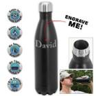 25 Oz Double Wall Water Bottle – Black