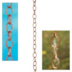 Single-Link Rain Chain – Polished Copper