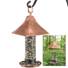 Palazzo Bird Feeder w/ Copper-Finished Pagoda Roof