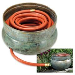 Rustic Sonoma Hose Pot – Blue Verde Brass