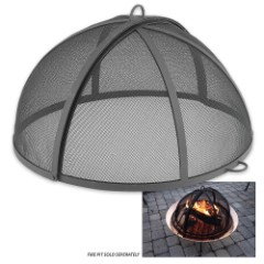 Hinged Spark Screen for Medium Copper Basin Fire Pit