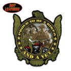 Hot Leathers Proud Biker and Vet Patch