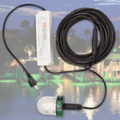 Underwater 60W Green Dock Light – 50 FT.