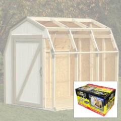 2x4 Basics DIY Shed Kit - Barn Roof Style