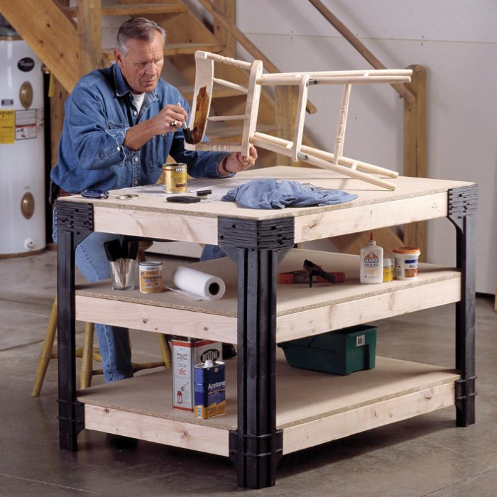 The 10 Best Garage Workbench Builds: 2x4 Basics Workbench Legs Building Kit