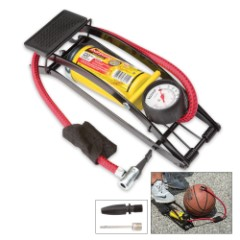 Foot Tire Pump With Gauge For Bed Or Boat
