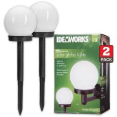 Dual Use LED Solar Globe Light – Set Of Two