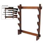Five-Gun Wooden Rack