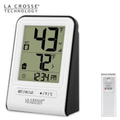 La Crosse Technology Wireless Indoor/Outdoor Thermometer - White