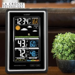 La Crosse Technology Wireless Color Weather Station - Black