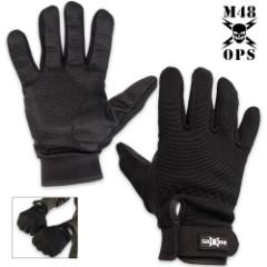 M48 Full Finger Gloves Black