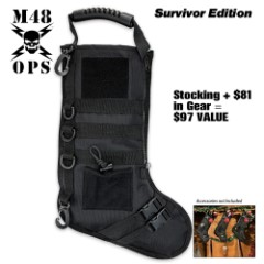 M48 Tactical Stuffed Stocking - Survivor Edition - Filled with $40 in Survival Gear