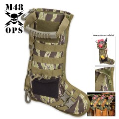 M48 Tactical Military Stocking – Zebra Camo