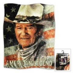 "John Wayne ""American Legend"" Fleece Throw Blanket - 50"" x 60"""