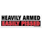 Heavily Armed Easily Pissed Bumper Sticker