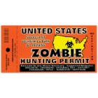 Zombie Hunting Permit 3x10 Bumper Sticker