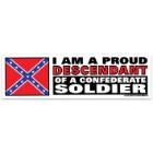 Proud Descendant Confederate Soldier Bumper Sticker