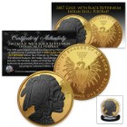 Indian Skull Collectible Coin | Clad in 24K Gold, Ruthenium | 1-oz Pure Copper | Exclusive Design