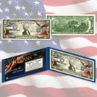 Merrick Mint Veterans Day Colorized 2 Bill in Display Folio