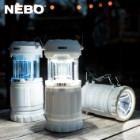 NEBO Z-Bug Lantern / Spotlight Combo - Attracts, Kills / Zaps Flying Insects - White and NUV LEDs - Electric Grid - Includes Sweeper - Outdoor Recreation, Indoor Emergencies - Battery Powered