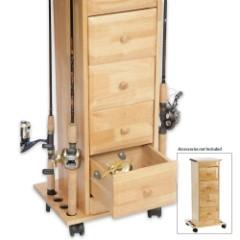 Narrow Floor Cabinet - Oak Finish