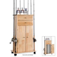 Large Utility Box Cabinet And Rod Rack