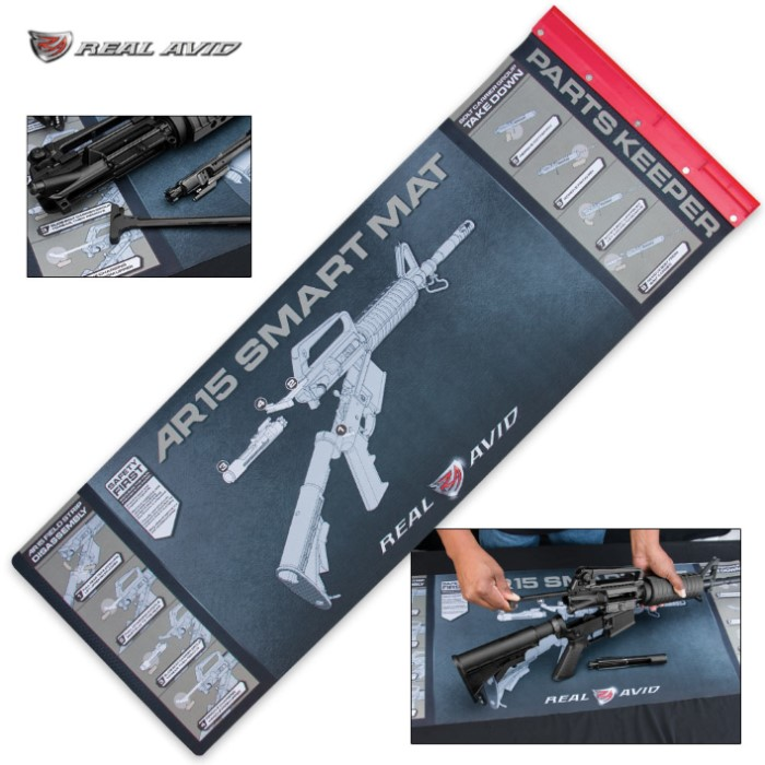 Ar15 smart cleaning mat with built in tray oil resistant for In drawer knife mat