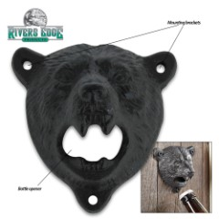 Bear Head Cast Iron Bottle Opener
