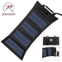Rothco Molle Compatible Fold-up Solar Charger