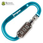 Key Gear Carabiner Combo Lock Blue