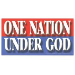 """One Nation Under God"" 4"" x 8"" Waterproof Car Magnet"