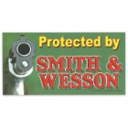 """Protected by Smith & Wesson"" 4"" x 8"" Waterproof Car Magnet"