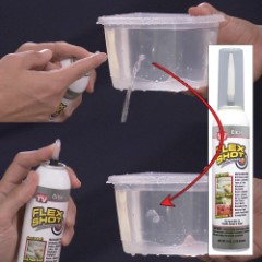 Flex Shot Clear Caulk – Bonds And Seals
