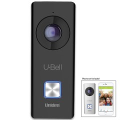 U-Bell Wireless Video Doorbell – Two-Way Audio, 1080P Video, 180 Degrees View, Infrared LEDs, Weatherproof, Wired Power, SD Card Included
