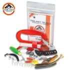 Vigilant Trails Pocket Fishing Kit - All Gear Necessary For Fishing, Hand Reel, Fishing Line, Knife, Variety Of Lures