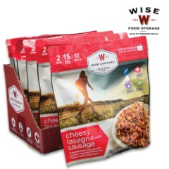 Wise Cheesy Lasagna - Two Servings, 16 Grams Protein, Seven-Year Shelf-Life, 4,440 Calories, Made In USA