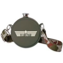 Round Camouflage Canteen Flask