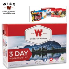 Wise Three-Day Weekender Food Kit For One Adult - 2,000 Calories Per Day, Breakfast And Entrée, Protein Shake, Dried Fruit, Gluten Free