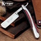 Kriegar Vintage Barbershop Folding Straight Razor - Wood-Accented Handle