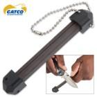 Bear & Son Gatco 60016 Portable Triangular Ceramic Knife Sharpener for All Edges / Points
